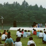 Being introduced prior to performance - wonderful Japanese lakeside setting