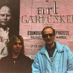With accompanist Tim Panting outside the Edinburgh Playhouse before the gig as support artist to Art Garfunkel - Alice Cooper had been there the night before and had left plenty of fake blood visible on the stage!