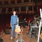 On stage at the Royal Albert Hall, taken during another soundcheck on one of the three nights that I played as support artist to Art Garfunkel